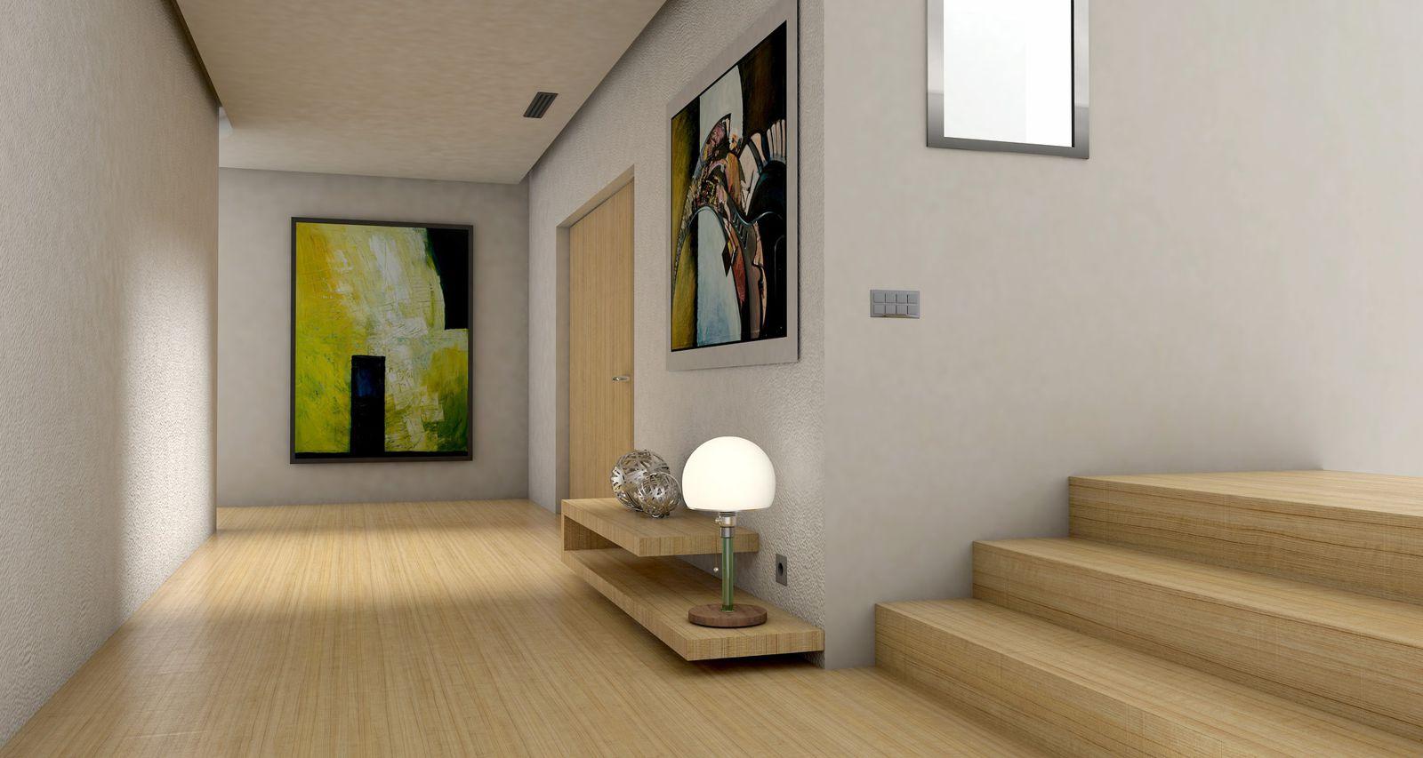 amenajari interioare - hol, trepte